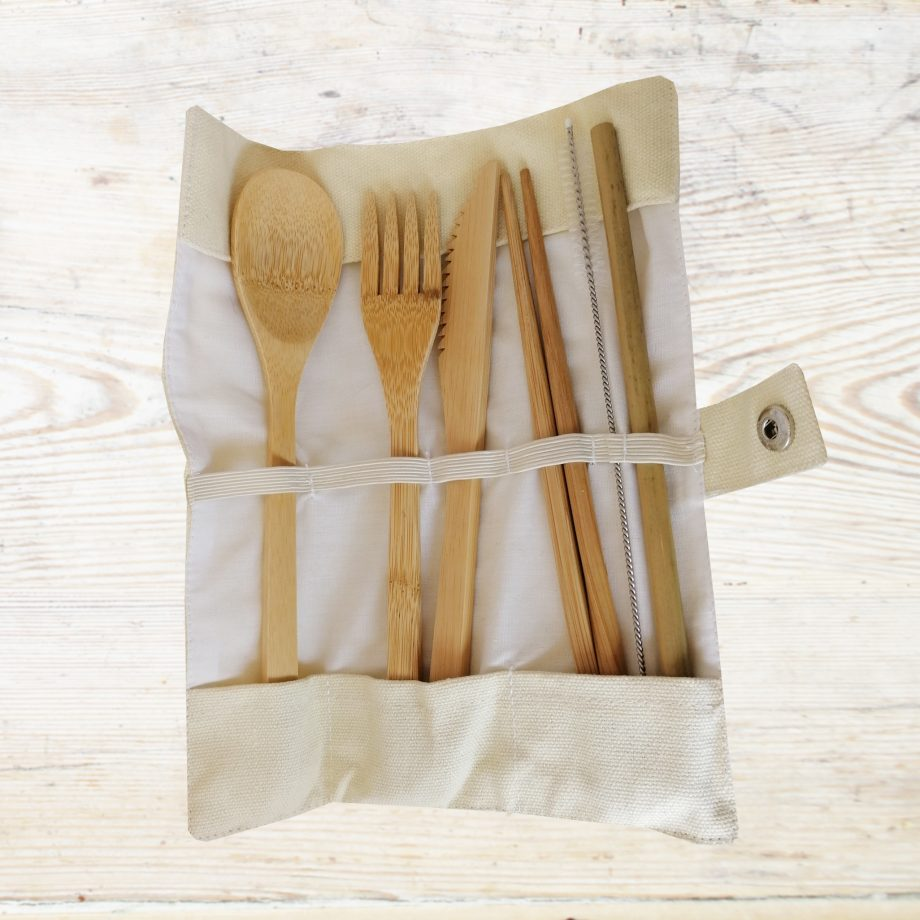 Bamboo Cutlery set cream
