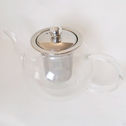 glass teapot - large