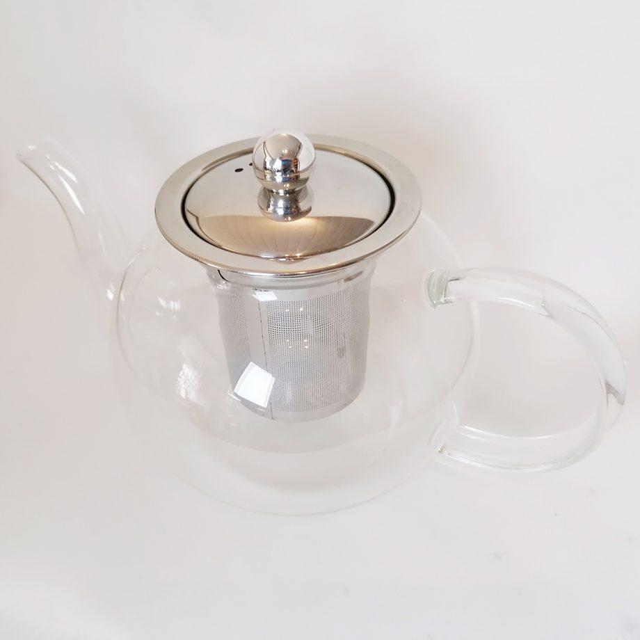 glass teapot - large