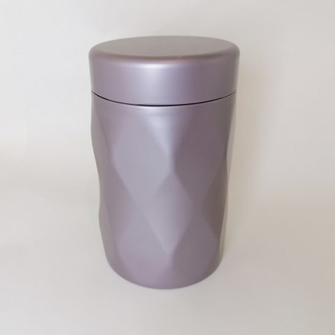 Jewel Tea Tin - silver-lilac