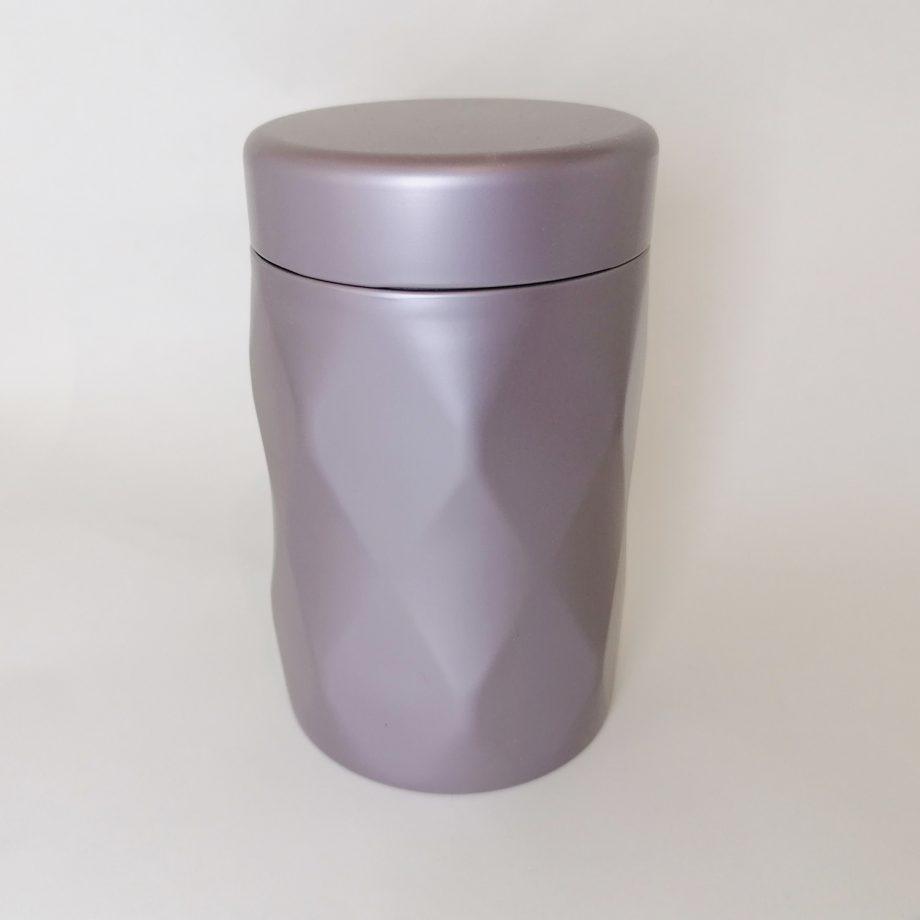 Jewel Tea Tin - silver-lilac