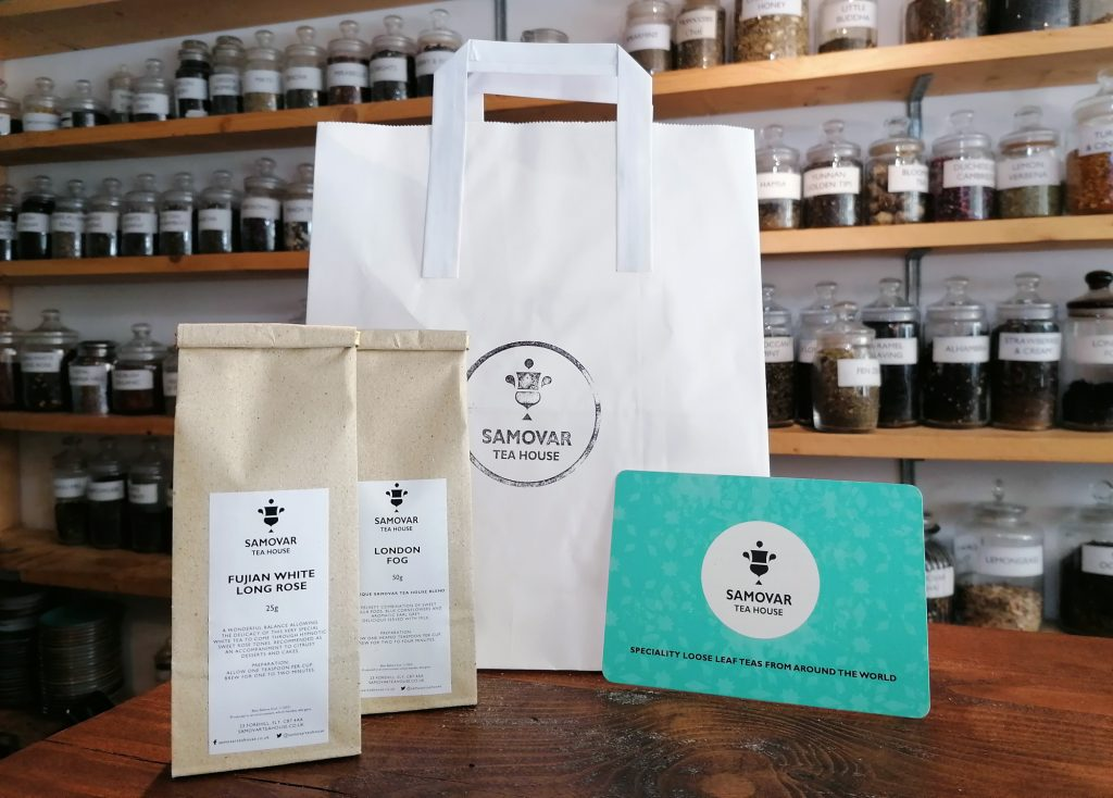 Samovar Tea House eco friendly packaging