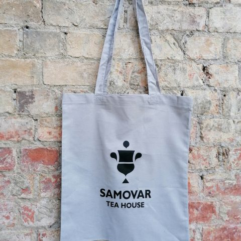 Samovar Tea House tote bag - light grey