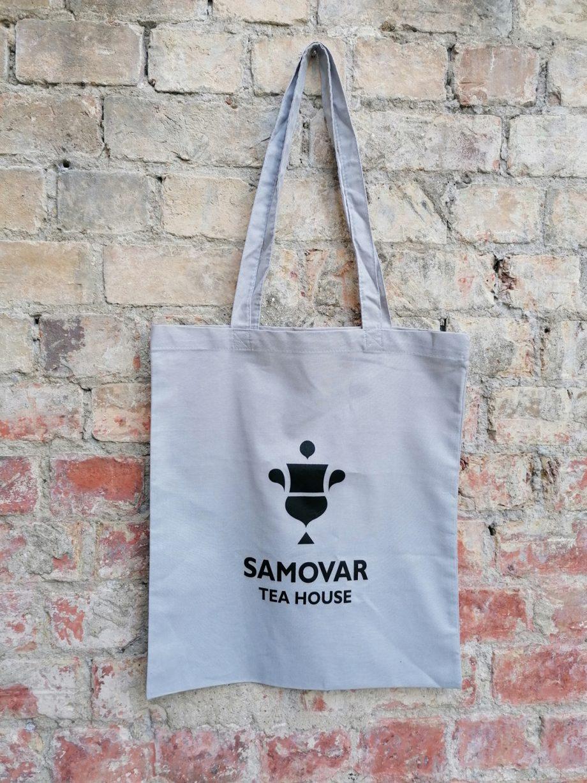 Samovar Tea House tote bag - light grey