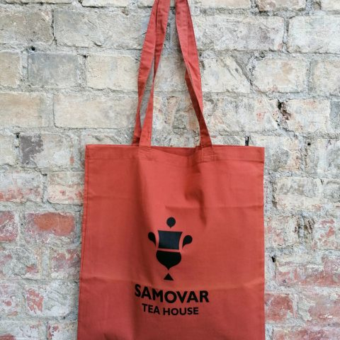 Samovar Tea House tote bag - Orange Rust