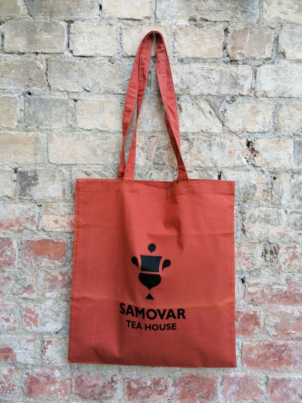 Samovar Tea House tote bag - Orange Rust