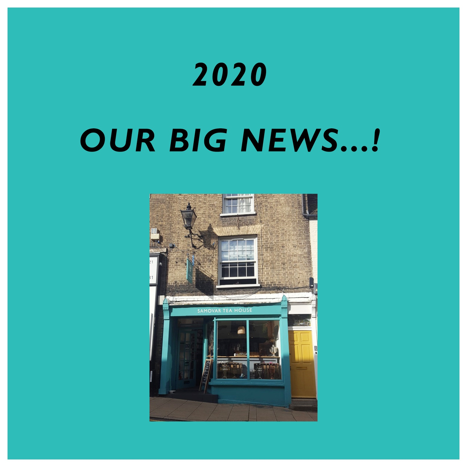 2020 - our big news!