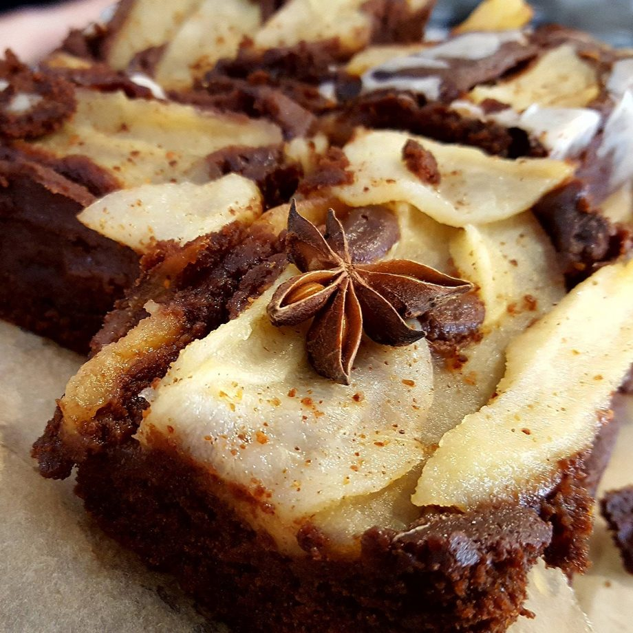Pear and Star Anise Chocolate Cake