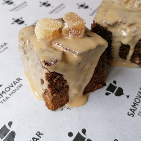Sticky Treacle Ginger Squares