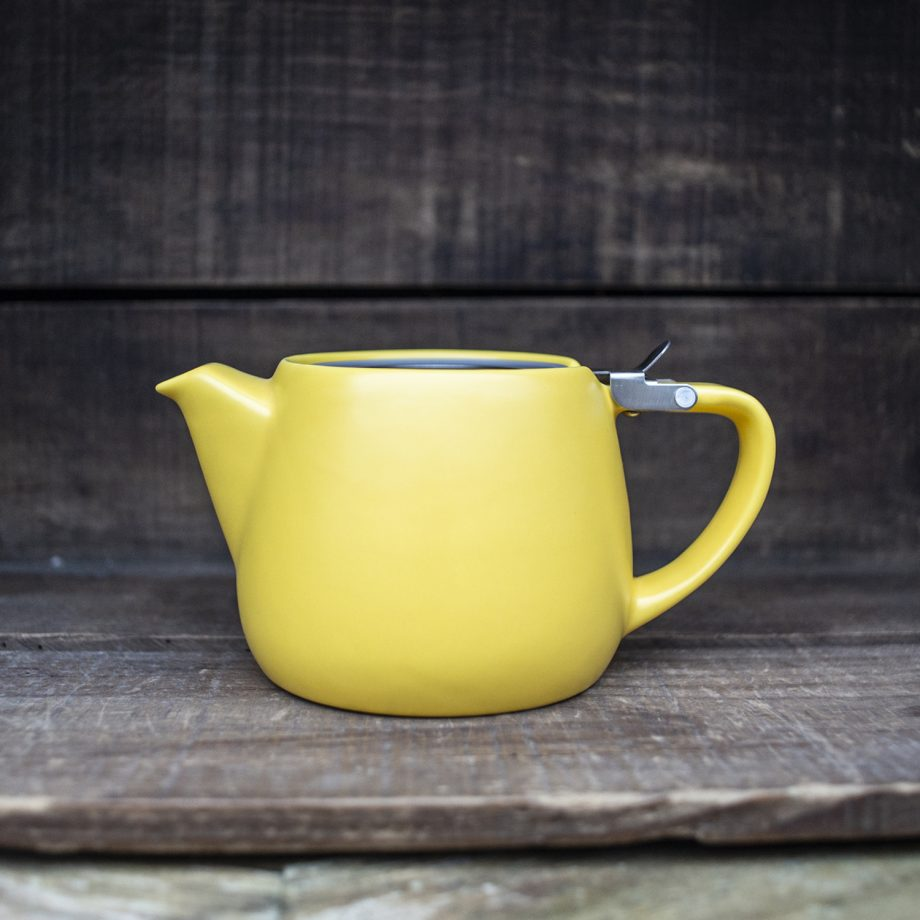 Yellow Ceramic Teapot
