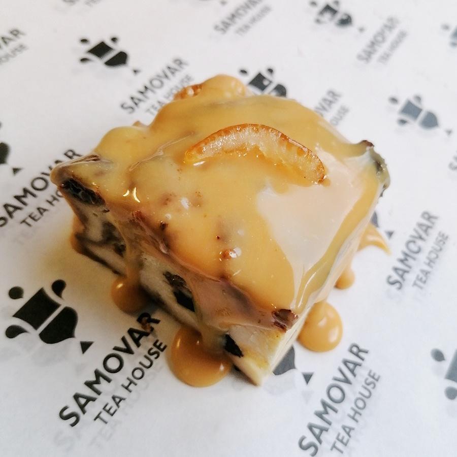 panettone caramel pudding